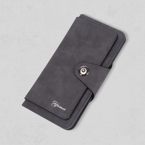 Titch Foldable Card And Money Wallet - Dark Grey