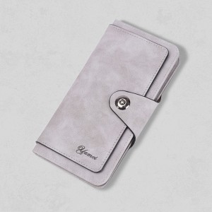 Titch Foldable Card And Money Wallet - Grey