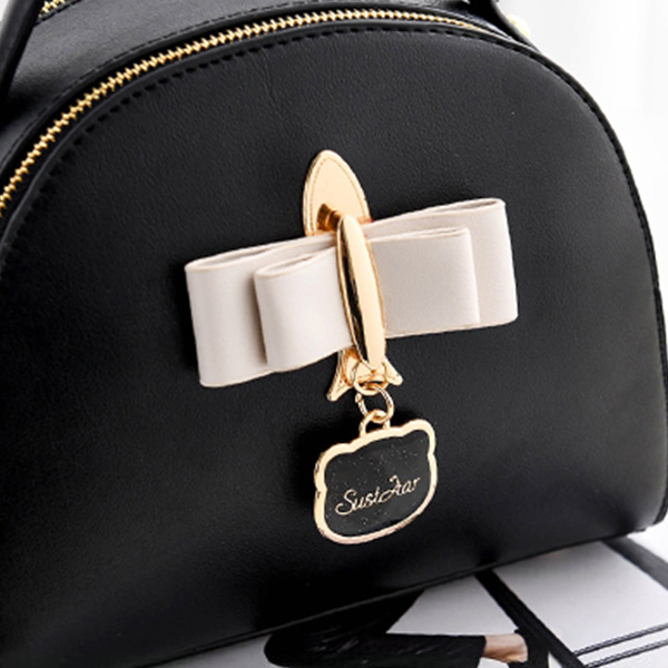 Half Round PU Leather Mini Shoulder Bags