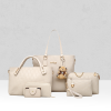 White Texture Six Pieces Handbags Set