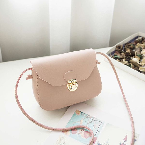 String Strappy Trunk Clutch Shoulder Bags - Pink