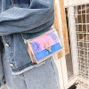Holographic Contrast Special Press Lock Messenger Bags - Blue