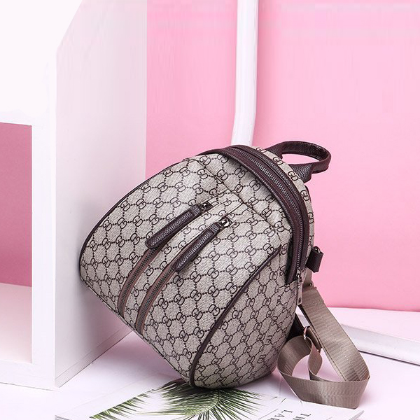 Duo Zipper Designers Printed Mini Backpacks