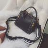 Quality Vintage Black PU Leather Shoulder Bag