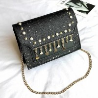 Pearl Tassel Party Collection Purse - Black