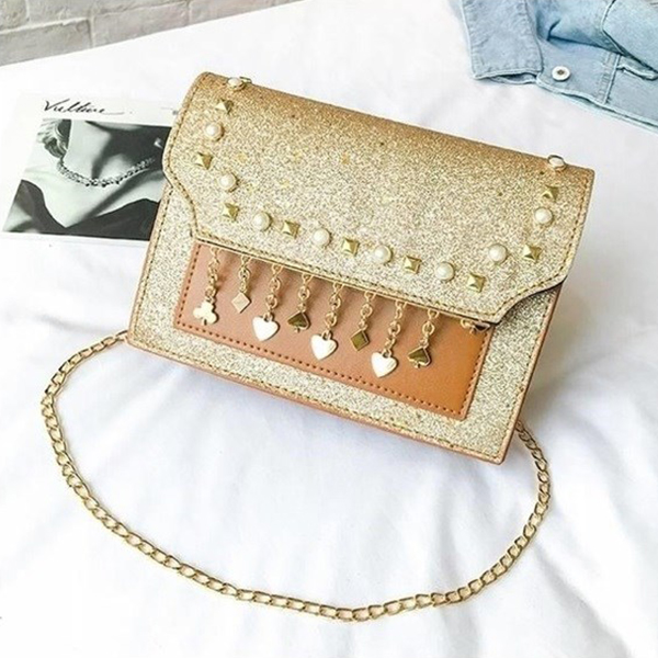 Pearl Tassel Party Collection Purse - Golden