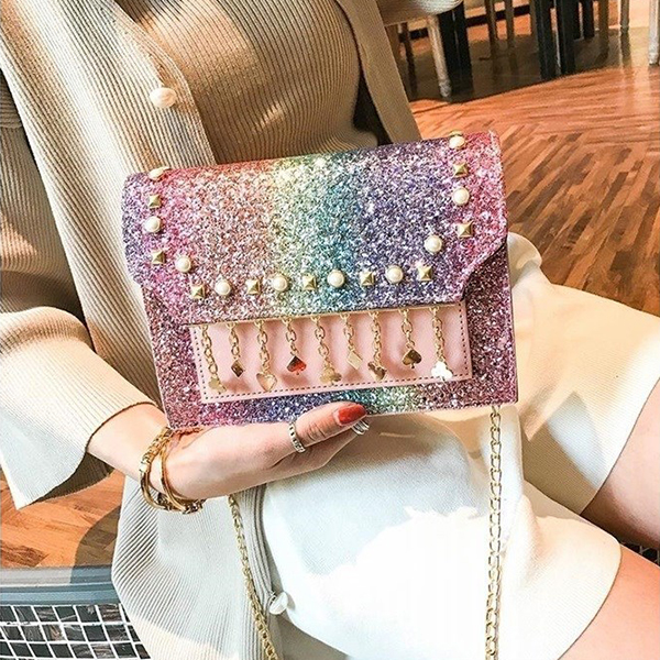 Pearl Tassel Party Collection Purse - Multicolor