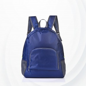 Portable Nylon Skin Travel Backpack Bags - Blue