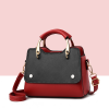 Contrast Button Up Formal Shoulder Bags - Red