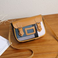 Check Prints Buckle Closure Messenger Bags - Yellow