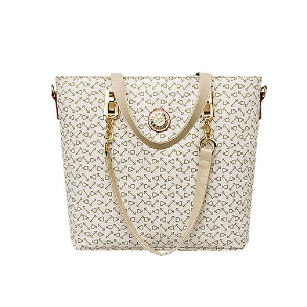Five Pieces Best Selling Luxury Handbag Set Summer Season White