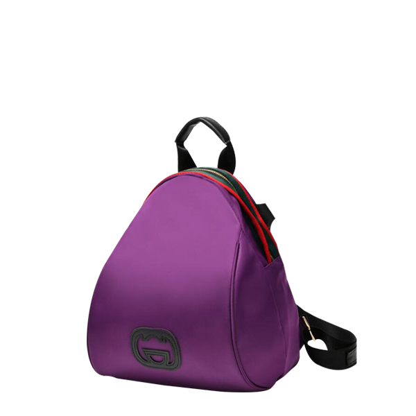 Women Occasional Fashion Trendy Nylon Backpack Purple