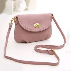 Soft Casual Mini Messenger Bags - Pink