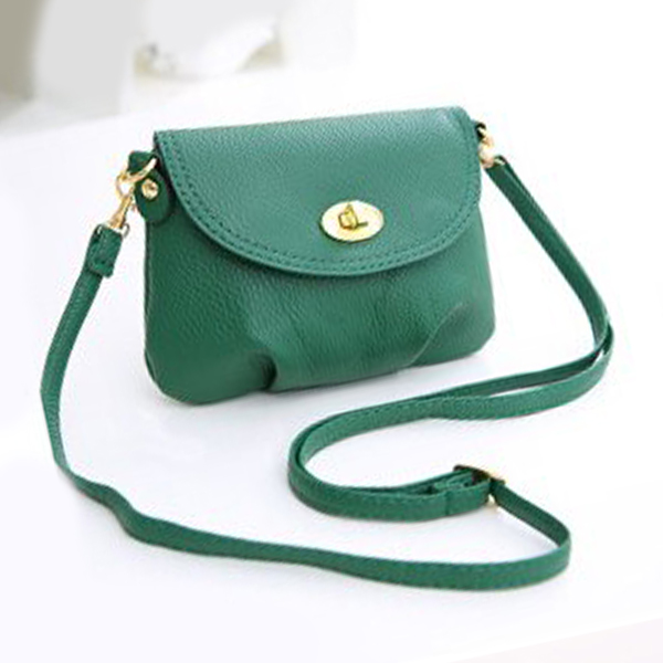 Soft Casual Mini Messenger Bags - Green
