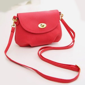 Soft Casual Mini Messenger Bags - Red