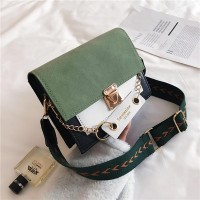Square Shaped Trendy Women Messenger Bag - Green