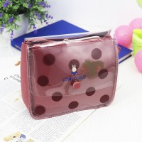 Polka Prints Transparent PU Jelly Bags - Rose Pink