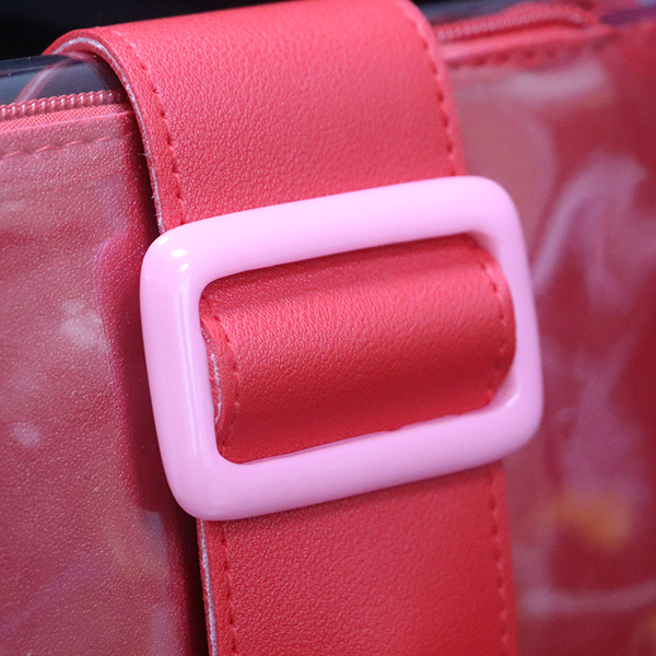 Buckle Magnetic Lock Jelly Messenger Bags - Red