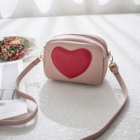 Synthetic leather Heart Shape Women Messenger Bags - Pink