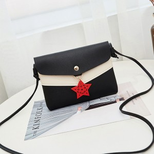 Star Hanging Contrast Messenger Bags - Black