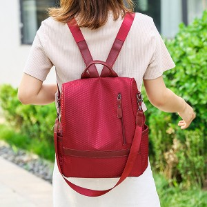 Mesh Multi Pockets Female Mini Backpacks - Red