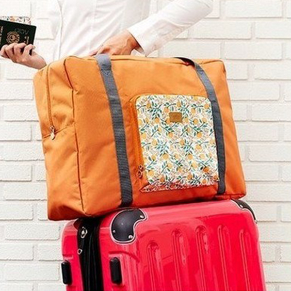 Printed Boho Water Resistant Traveller Bag - Orange