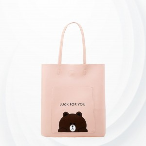 Cartoon Prints Wide Space Outdoor Shoulder Bags - Pink