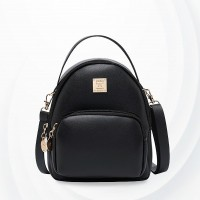 Round Cute Mini Pocket Shoulder Bags - Black