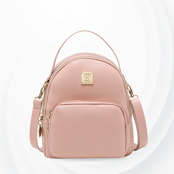 Round Cute Mini Pocket Shoulder Bags - Pink