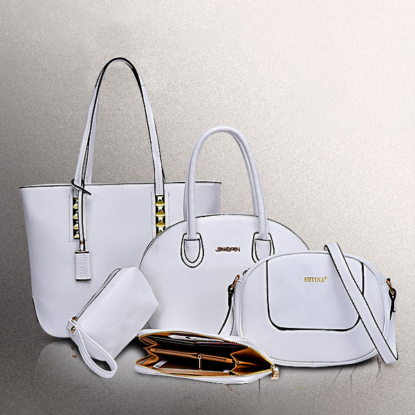 Luxury Handbags Bundle Casual Fashion Large Capacity White Bags