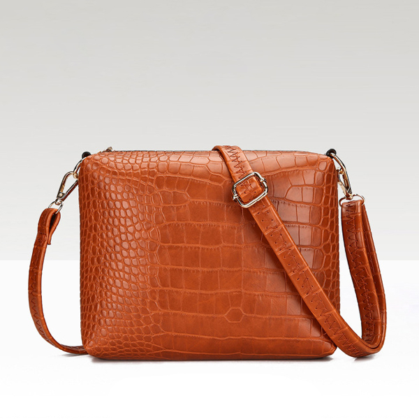 Crocodile Texture Three Pieces Handbags Set - Red