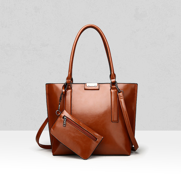 Quality Designers Shining Shoulder Bags - Brown