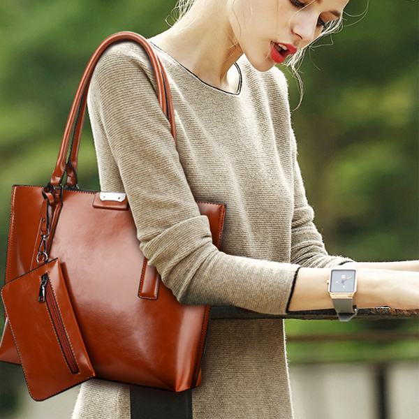 Quality Designers Shining Shoulder Bags - Burgundy
