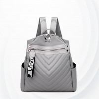 Stripes Pattern Large Capacity Backpacks - Grey