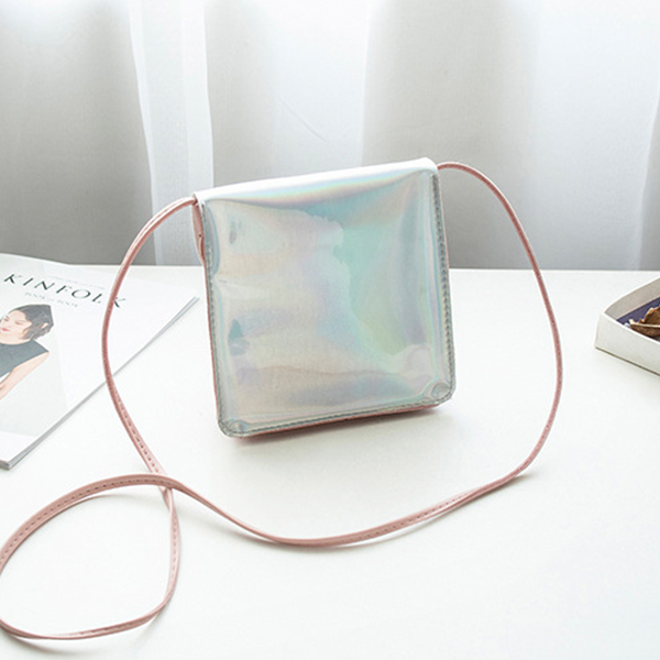 Holographic Contrast Star Hanging Shoulder Bags