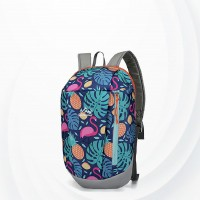 Flamingo Print Summer Casual Wide Space Backpack - Blue