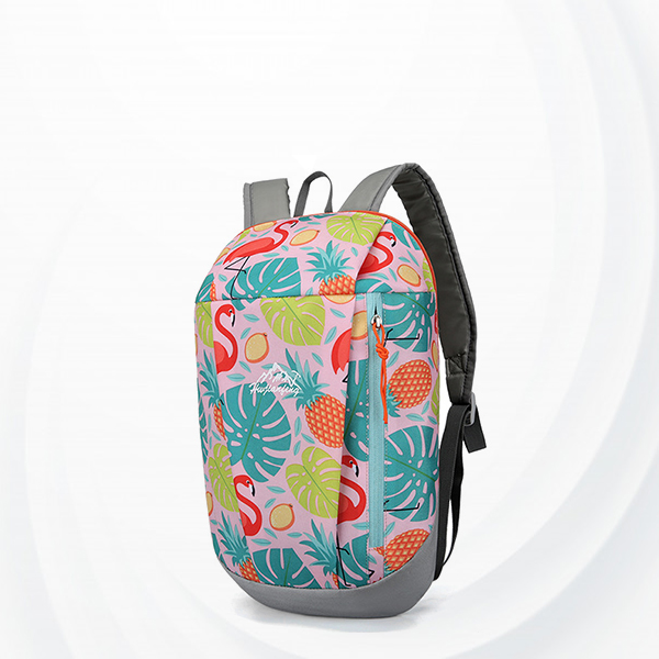 Flamingo Print Summer Casual Wide Space Backpack - Pink