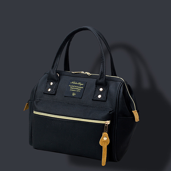 High Quality Black Canvas Shoulder Bag