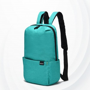 Smart Casual Wear Zipper Backpack - Sea Green