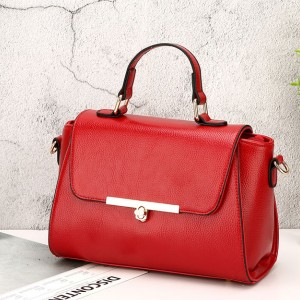 Korean PU Leather Simple Summer Messenger Bag Red