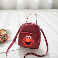 Cute Cartoon Stitching Multi-function Messenger Bags - Burgundy