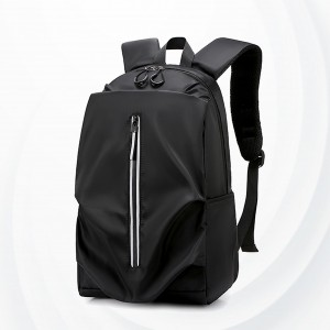Polyester Zipper Closure Multi Pockets Backpacks - Black