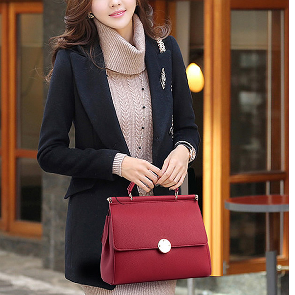 European PU Leather Luxury Fashion White Handbag