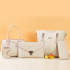 5PC Bags Women Fashion Office Messenger Handbags White