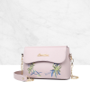 Embroidery Chain Strap Mini Messenger Envelope Bag Purple