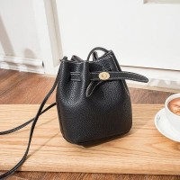 Litchi Pattern Small Summer Women's Cross Shoulder Bag Black