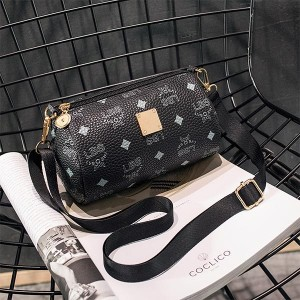 Printed Women Casual Phone Coins Messenger Bags - Black