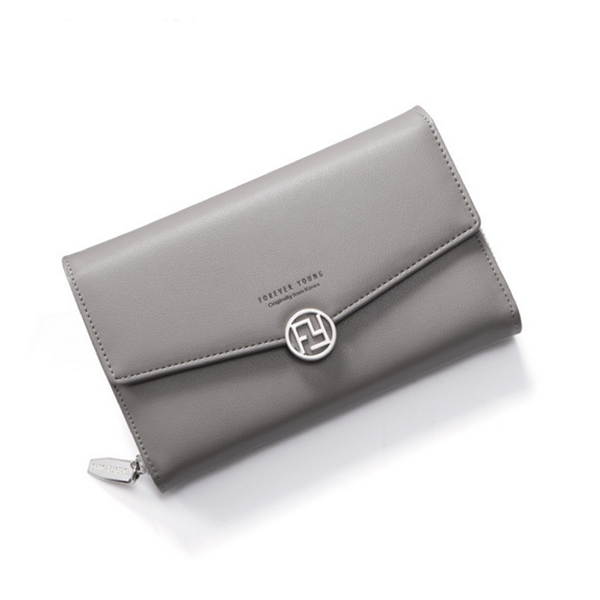 Simple Envelope Design Foldable Wallet - Grey