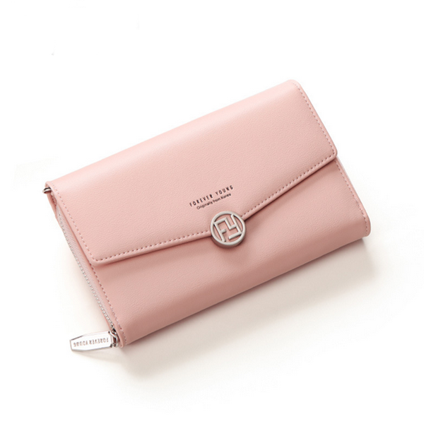 Simple Envelope Design Foldable Wallet - Pink