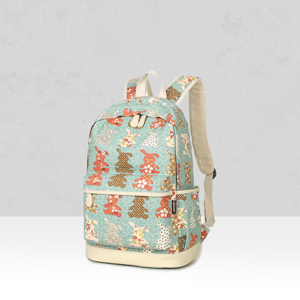Multiple Prints Three Pieces Canvas Bag Set